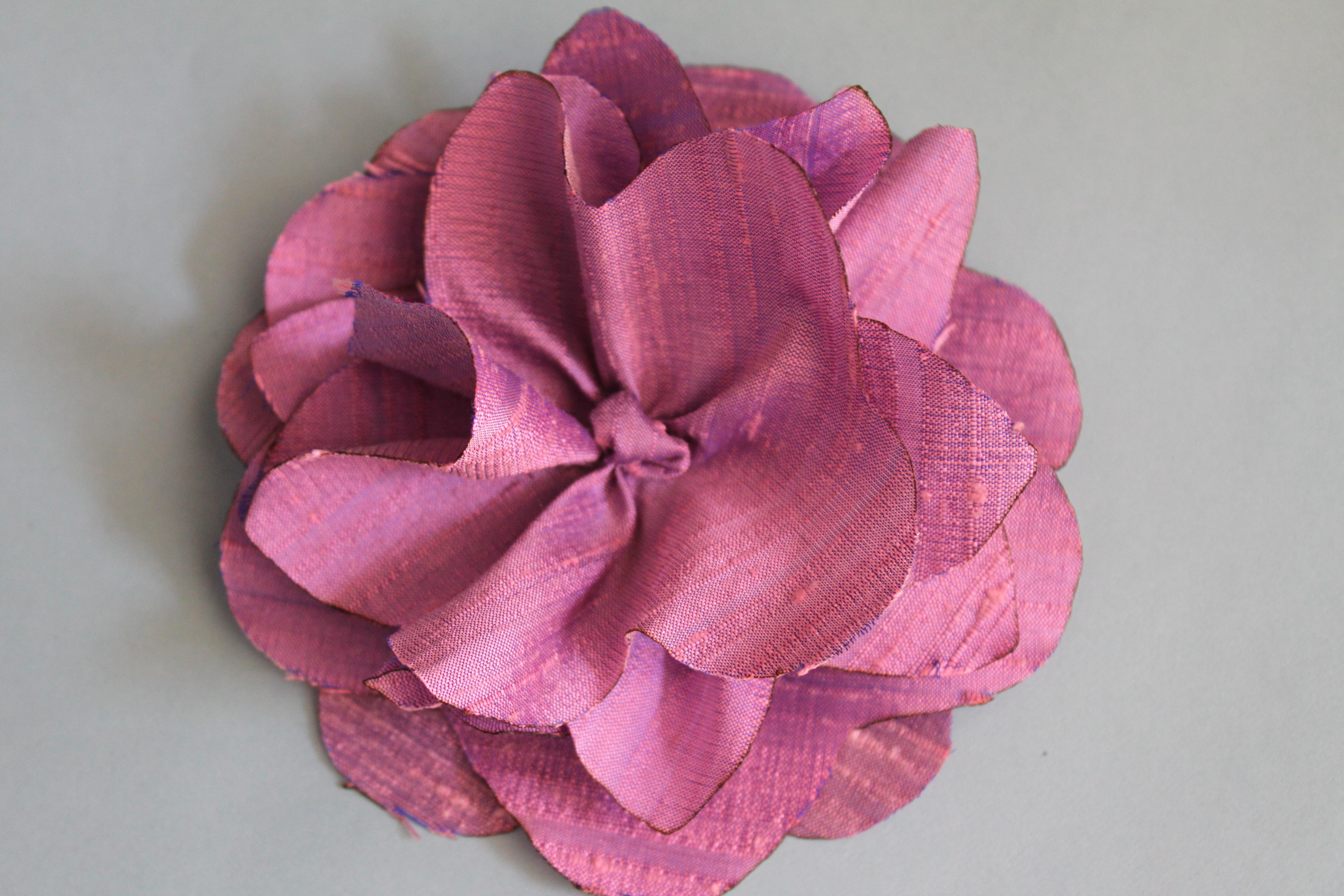 Hand Sewn Silk Flower My Material Life