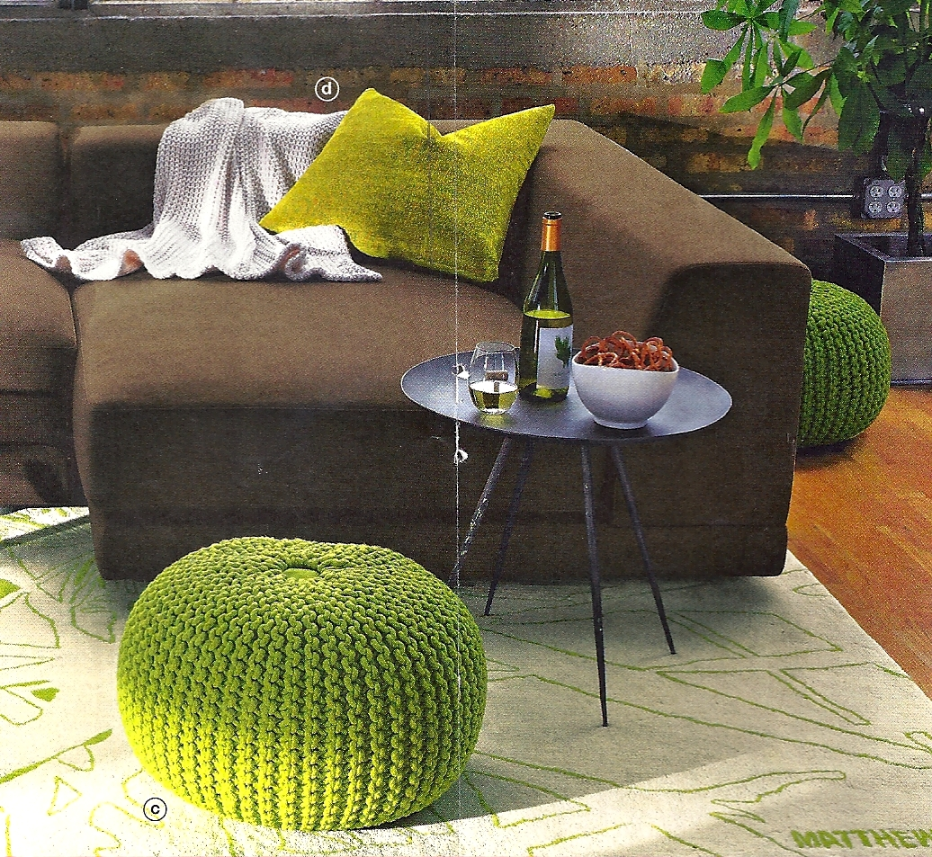 Found! Free Knit Pouf Pattern My Material Life