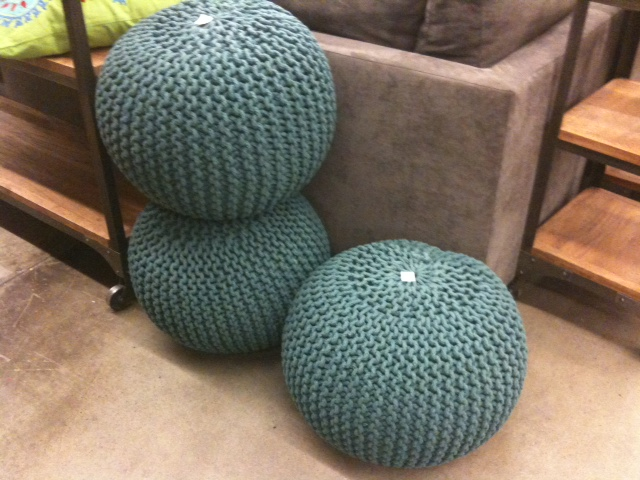more and knit poufs at cost plus my material