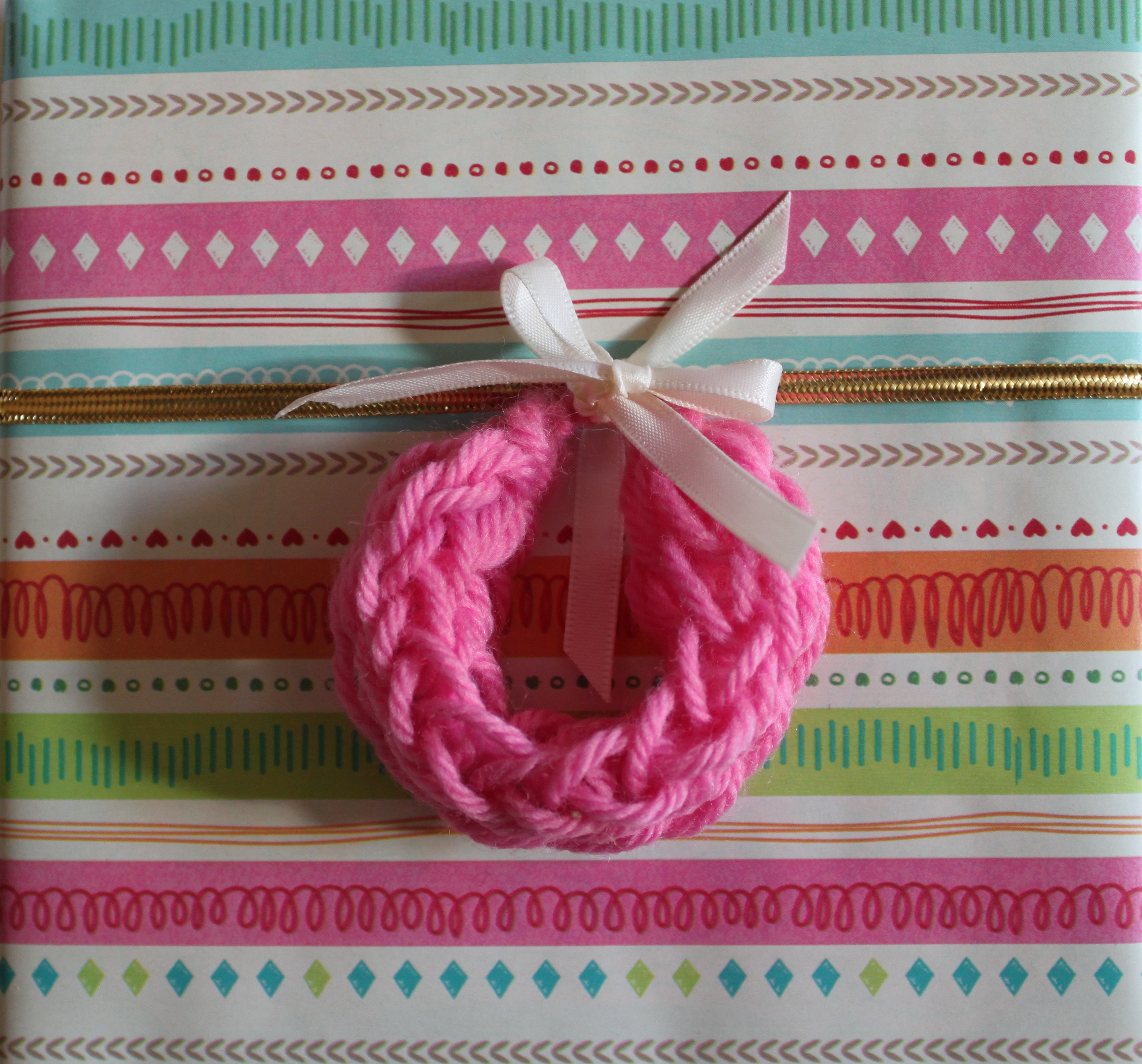 Toilet Paper Roll Knitting Nancy Idea #4: Wreath Ornaments | My ...