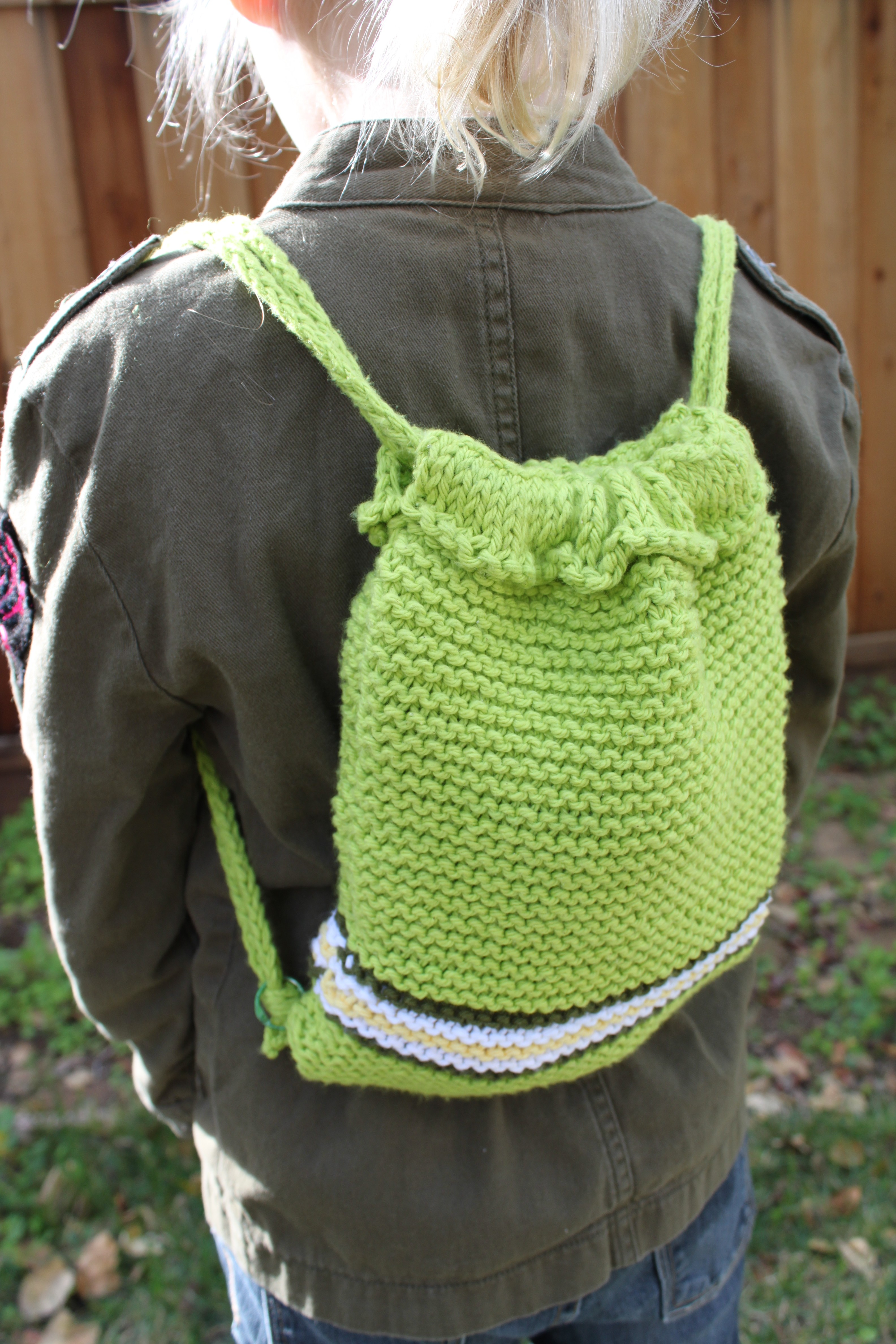 Backpack Knitting Pattern Choice Image - handicraft ideas home ...