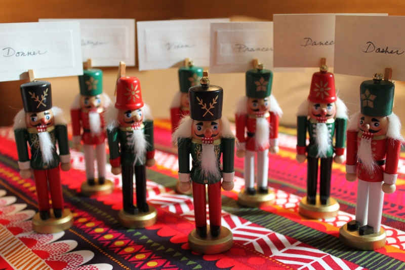nutcracker place card holders my material life. Black Bedroom Furniture Sets. Home Design Ideas