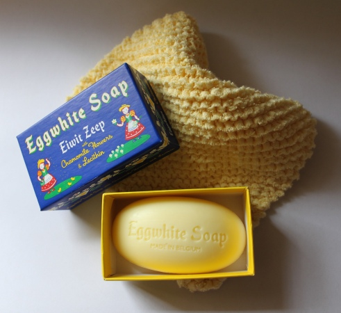 Belgian Soap from Paper Source, Handknit Cloth