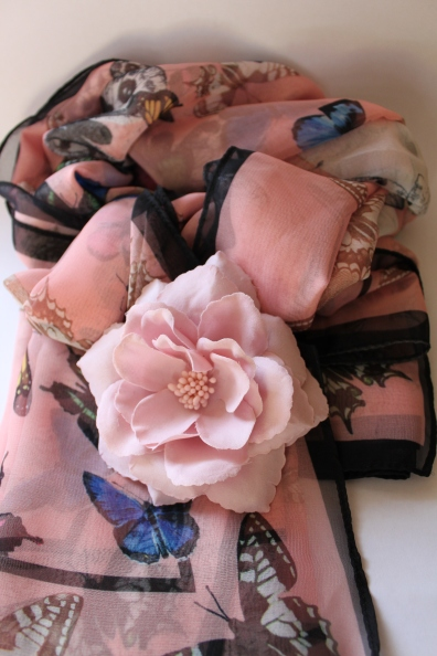 H & M Scarf and Flower