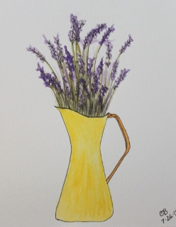 mml pitcher watercolor