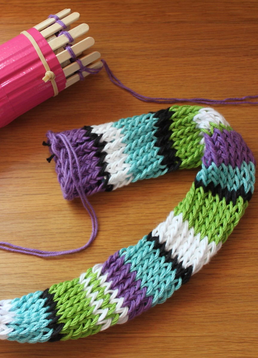 Toilet Paper Roll Knitting Idea 11 Striped Slipcover For