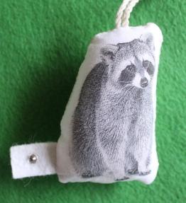 mml raccoon ornament