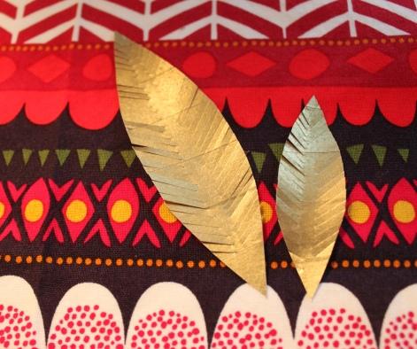 mml gold washi feathers