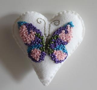 mml silk ribbon butterfly