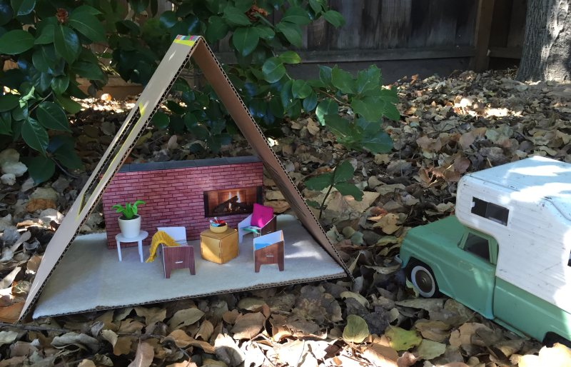 mml cardboard cabin camper
