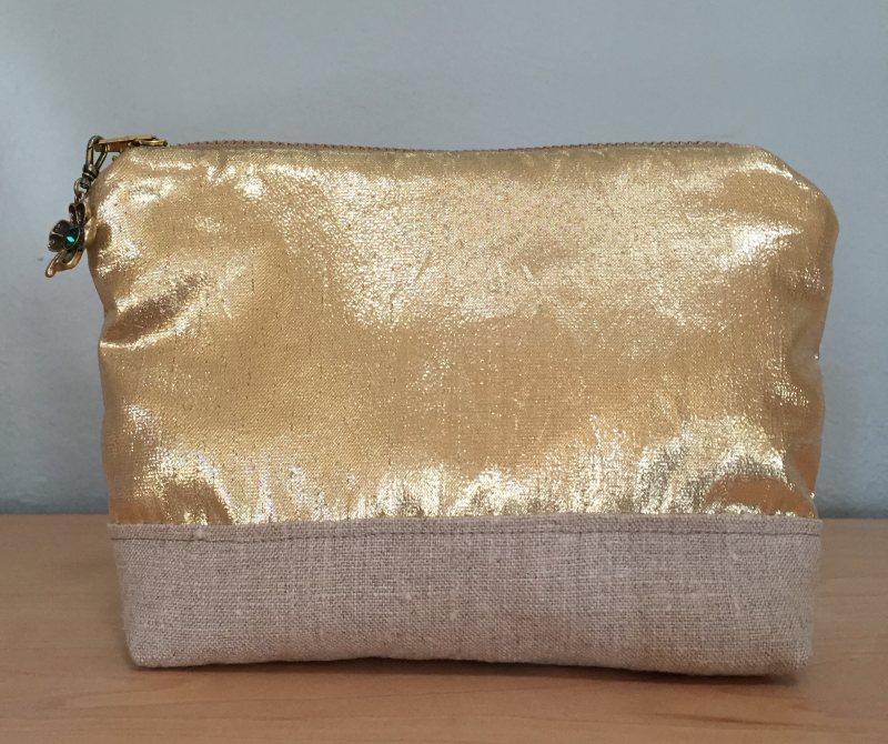 mml linen & lame pouch