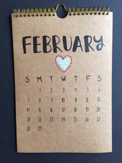 mml february kraft calendar